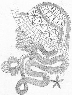 Дамы Bobbin Lace Patterns, Embroidery Patterns, Romanian Lace, Charcoal Sketch, Lacemaking, Needle Lace, Cutwork, Lace Design, Crochet Motif