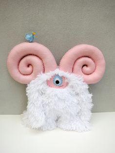 Cloey - Hand-stitched Plush Monster. via Etsy.