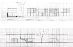 """Eames House drawings 791×507 pixels - """"Design is a plan for arranging elements in such a way as best to accomplish a particular purpose"""" - Charles Eames 