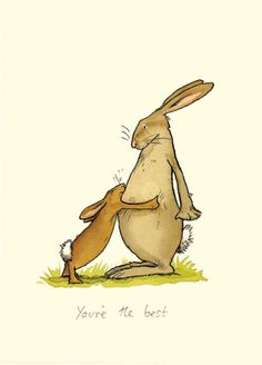 M47 YOU'RE THE BEST a Two Bad Mice card by Anita Jeram