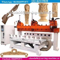Multi Head 5 Axis 3D Wood CNC Rotary Engraving Machine For Guns Rifle Stocks Gunstock