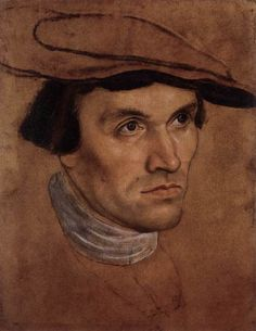 CRANACH, Lucas the Elder [German Northern Renaissance Painter, 1472-1553] Portrait Study of a Young Man c. 1530