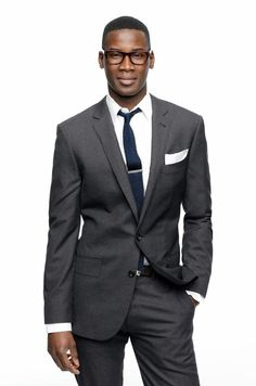 For an informal daytime wedding during the winter months, choose a dark business suit like this Ludlow Suit from J.Crew.