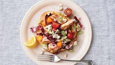 Mediterranean Chopped-Chicken Pita Pita Recipes, Cooking Recipes, Healthy Recipes, Greek Recipes, Healthy Foods, Chicken Pita, Grilled Chicken, Chicken Sandwich, Chicken Salads