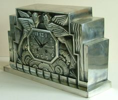 French Art Deco Clock by C. Terras