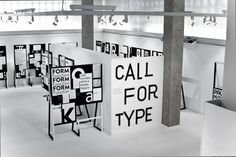 Call for Type @ Gutenberg Museum Mainz [Germany, 2013] (Design & Production by Simon Störk and Lukas Wezel. source: readingforms