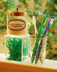 """Home made toothpaste - Baking Soda, Lime Rind, Peppermint Oil. Have to try this! He says """"After a week try your normal toothpaste and you will notice how much it tastes like chemicals."""""""