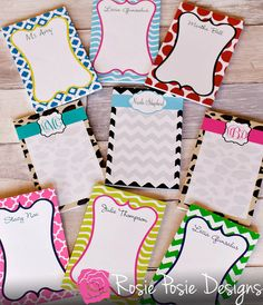 """Personalized Monogrammed Notepad 8.5""""x5.5""""-Design Your Own"""