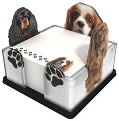 NEW-Dog-Sticky-Note-Memo-Pad-Holder-Got-Yo-Gifts-Cavalier-King-Charles-Spaniel