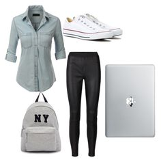 collage by lexiekelly on Polyvore featuring polyvore fashion style LE3NO Converse Joshua's clothing
