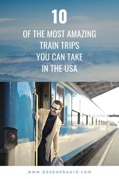 One can say, railways are the thing that built the great nation of the USA. Find the top 10 routes to travel in the USA by train Train Vacations, Vacations In The Us, Best Vacations, Train Trips Usa, Family Vacations, Travel Tours, Travel Usa, Travel Destinations, Train Route