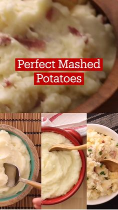 Good Food, Yummy Food, Tasty, Tastemade Recipes, Perfect Mashed Potatoes, Vegetable Recipes, Potato Recipes, No Cook Meals, Thanksgiving Recipes