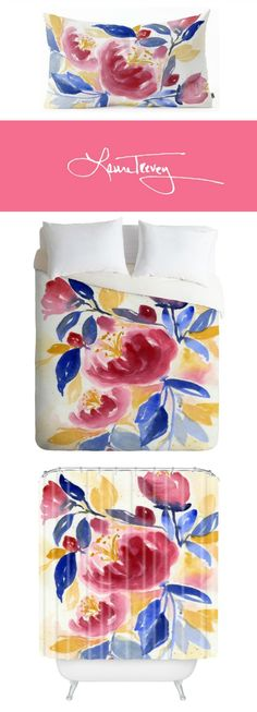 Colorful bedding, shower curtains, pillows and more in the wildly colorful Abundance Collection. Shop now.