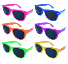 Custom Neon Sunglasses are perfect for those summer parties.
