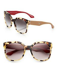 Prada Squared 57MM Cat's-Eye Sunglasses *these are the ones Ciara is most likely wearing in the first book!!! they're tortoiseshell AND the ear pieces fit both her Ukrainian blouse and her fringed bucket bag (also Prada) I <3 it when shit comes together. happens more often than you'd think. think up a sexy outfit and the perfect items already exist*