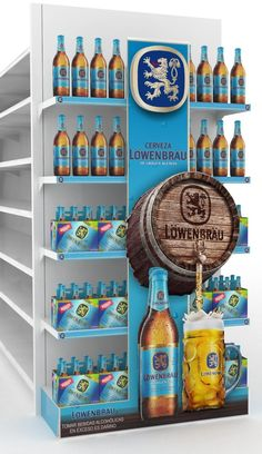 Pos Display, Display Design, Booth Design, Store Design, Promotional Stands, Cool Retail, Beer Sales, Pos Design, Retail Signage