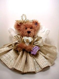Goldie The 50th Golden Angel Bear Angel Bear Annette Funicello Good Condition