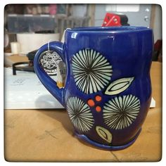 Did I show off this adorable mug I got at GLAM from @ferguson_pottery? It makes me so happy!