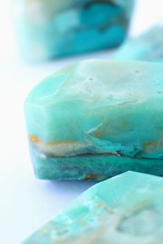 DIY Gemstone Soap Tutorial | How to Make Easy Gem   Mineral Shaped Soap Rocks