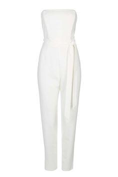 White Strapless Jumpsuit - Wallis Oversized Clutch, Snakeskin Heels, Strapless Jumpsuit, Wallis, Valentino Garavani, Cocktail, Holidays, Elegant, Model