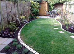beautiful backyard area with sitting space
