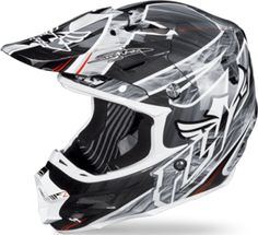 FLY CARBON ACETYLENE HELMET - Black-White - Snowmobile Gear