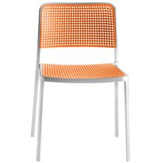 Chaise Audrey - structure alu mat - assise orange