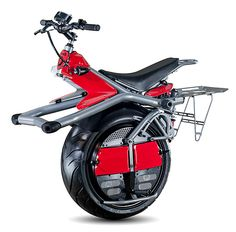 RYNO Cycle Sorta like the Sit-N-Spin but you won't get dizzy and throw up your animal crackers on the RYNO. It's a one-wheeled electric vehicle, part bike, part Segway (but cooler looking), & it rolls along at 10mph with a range of about 10-miles. $5300