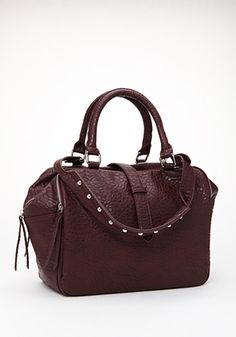 faux leather #satchel in #burgundy - perfect for #autumn