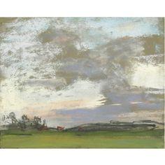 Claude Monet, Paysage; pastel on paper; possibly Donop de Monchy, Paris