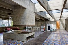 LIVING ROOM // São Paulo Residence by Paulo Mendes da Rocha. Designed in 1969 and was restored recently by the architect himself.