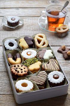 have a nice day Christmas Cookies Gift, Christmas Sweets, Christmas Baking, Cake Cookies, Sugar Cookies, Cookie Recipes, Dessert Recipes, Cookie Packaging, Food Platters