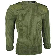 British Army Issue Wool O/D Sweater -- the base garment for my Army of Little Girls sweater.