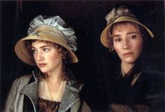 Kate Winslet as Marianne Dashwood and Emma Thompson as Elinor Dashwood in Sense and Sensibility (1995)