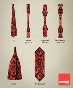 Men's Style 101: Know your neckwear Via