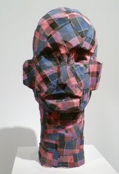 Georg Baselitz, Checkered Thing, 1994, Wood and fabric.