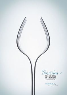 This is another wine and food festival poster. I like that they used the forks to make the wine glass.