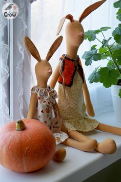 Tilda Bunnies Mother & Child ❤ Тильда Зайки Мама и Дочка ~ Country Crow