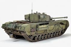Churchill Mk.III w/Ordnance QF 75mm Mk.V Gun — Каропка.ру — стендовые модели, военная миниатюра