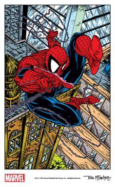 The Amazing Spider-Man interior art - Todd McFarlane Marvel Art, Comic Art, Comic Heroes, Comic Book Artwork, Comics Artwork, Todd Mcfarlane, Spiderman Art, Art, Cartoons Comics