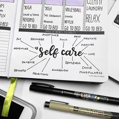 Passion Planner - Self care comes first Bullet Journal Vidéo, Bullet Journal Layout, Bullet Journal Inspiration, Planner Tips, Life Planner, Happy Planner, Harry Potter Gif, Planning And Organizing, Planner Organization