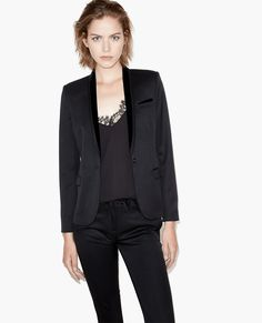 Suit jacket with velvet collar - Best Sellers - The Kooples