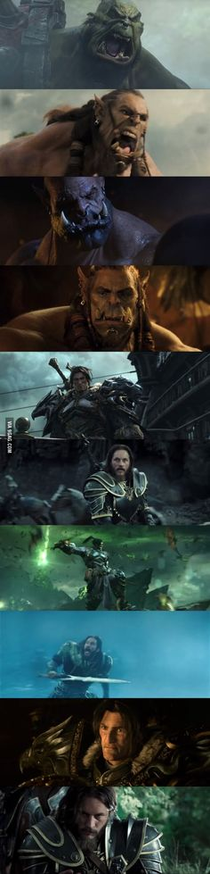 Visual comparison of the Warcraft movie and the cinematics