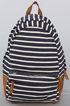 The Striped Backpack in Navy : Karmaloop.com - Global Concrete Culture