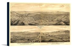 Canvas (Los Angeles, California #2 - (1877) - Panoramic Map)