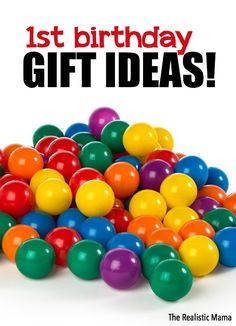 1st birthday! It sneaks up on all of us, so don't worry if you haven't had time to figure our their gift yet. Use this list of 1st birthday gift ideas as the perfect bouncing off point. This is also a great list to send the grandparents!