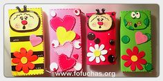 Wallets made using foam sheets. Super cute any girls would love a wallet like this. 100%handmade. #crafts #fofuchas