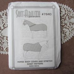 Suitability+7840+Horse+Body+Cover+++Stretch+Sheet+Equestrian+Sewing+Pattern+ORIG+