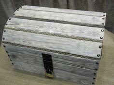 """Boîte à cartes de grand mariage bois rustique Unique - 20 « x 14 » x 12 """"- décoration de mariages - décoration de la maison - bois coffre - Pirate poitrine - coffre en bois - by PartyDecorHome on Etsy"""