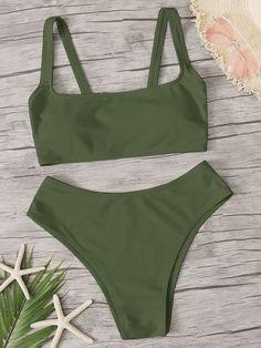 Green Swimsuit, Green Bikini, Bikini Swimsuit, Cheeky Bikini, Swimsuit Tops, Cute Swimsuits, Cute Bikinis, Bikini Outfits, Cute Bathing Suits